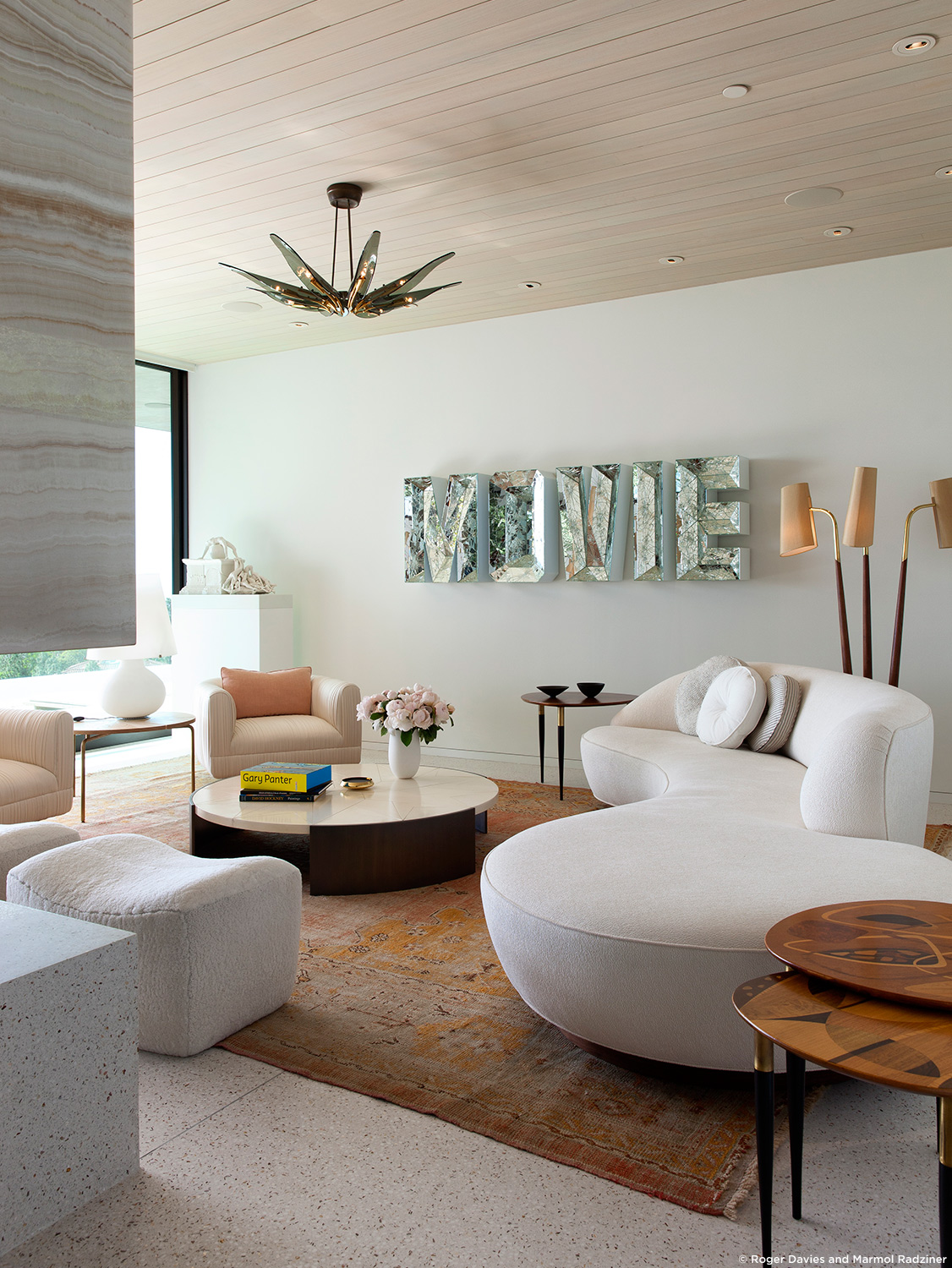 10 beautiful living room design by marmol radziner for Latest sofa designs for living room