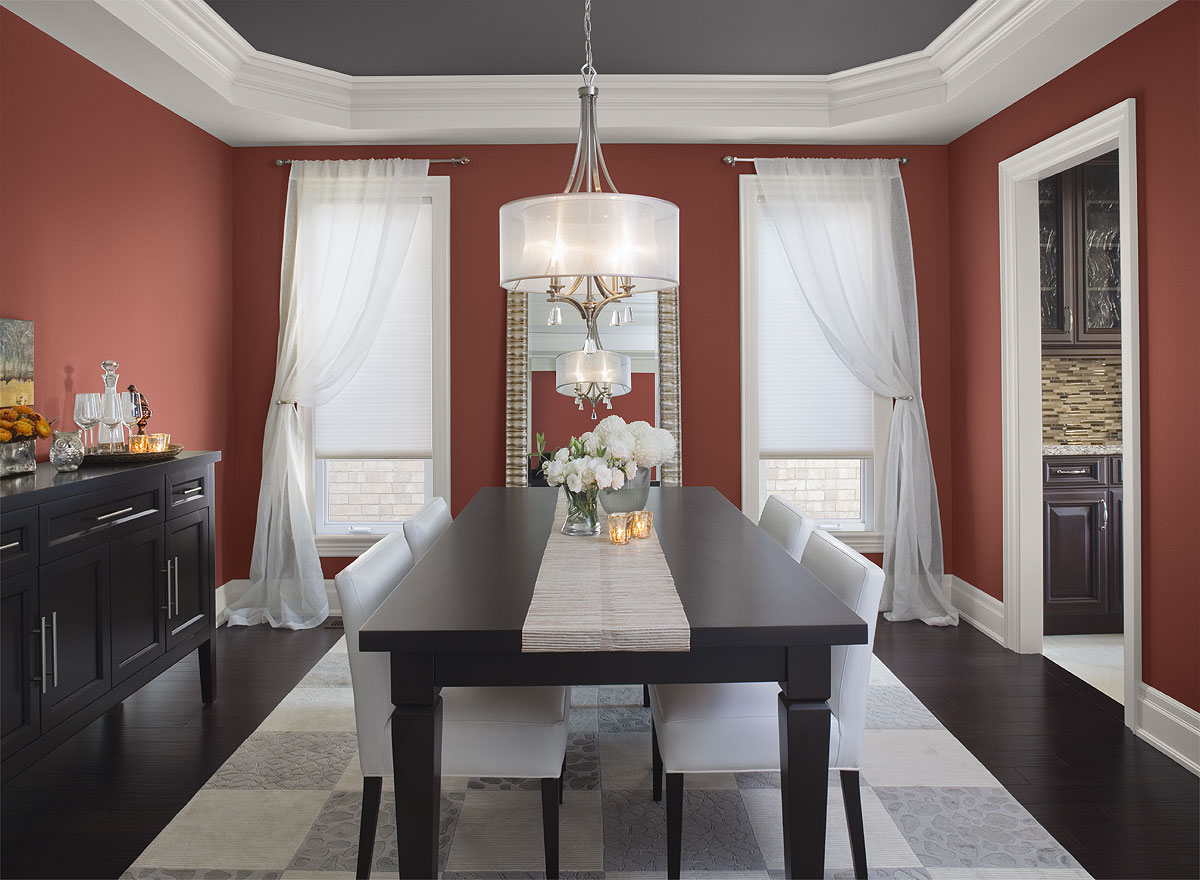 Formal dining room color schemes