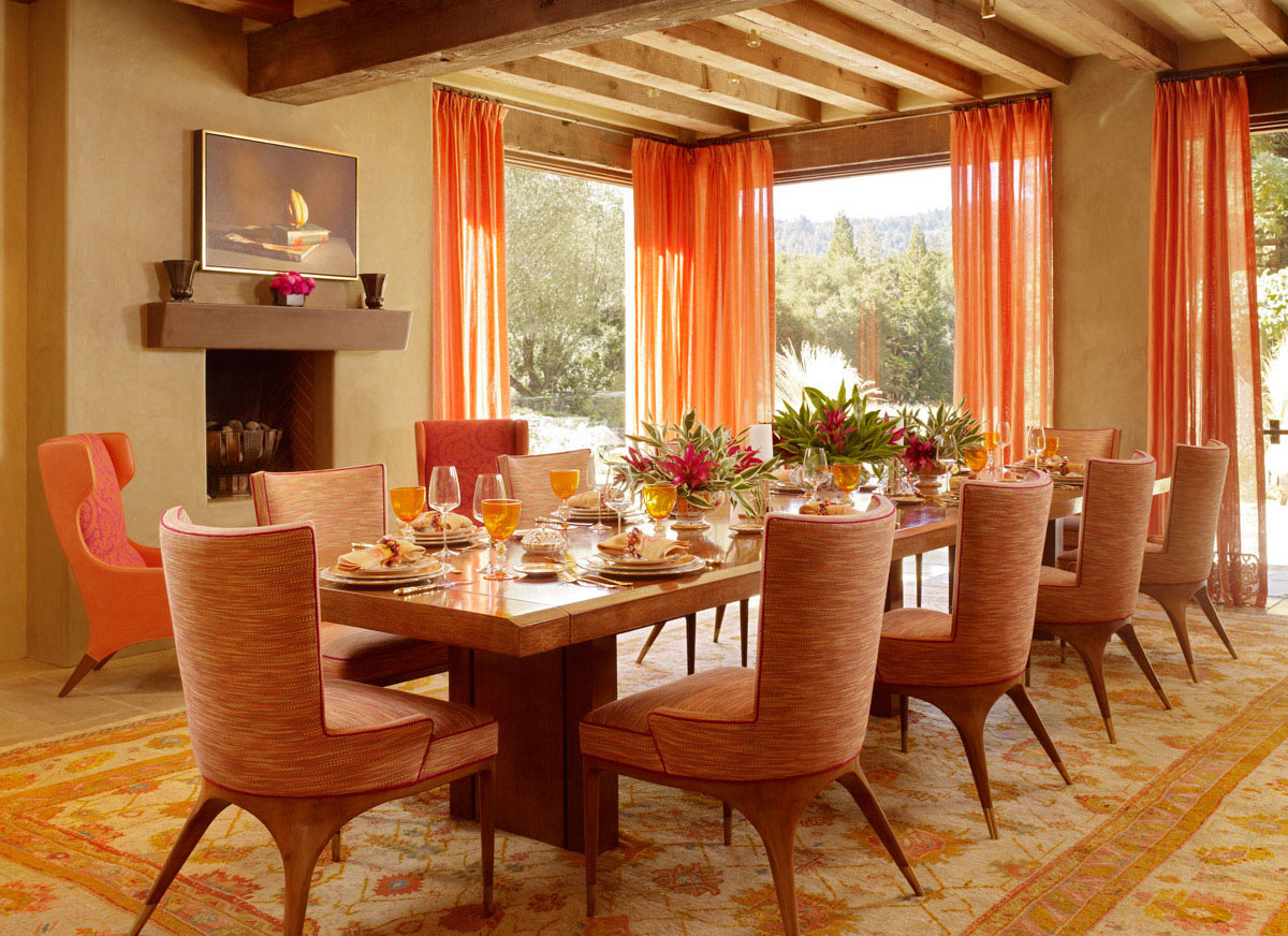 dining room color decorating ideas amazing orange dining room color