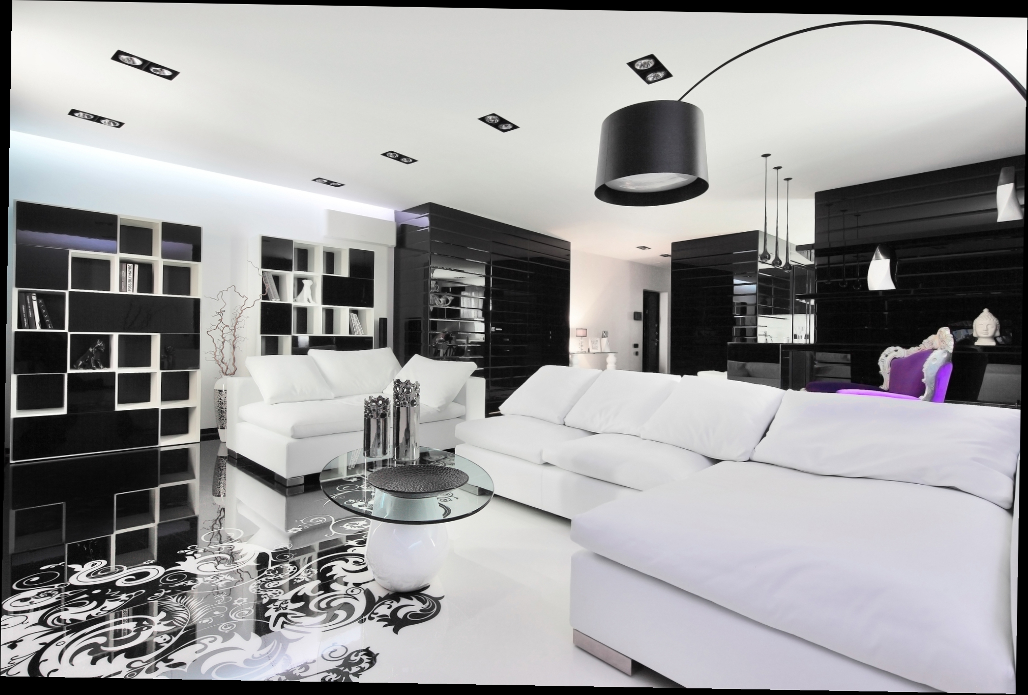 more sleek black and white black and white modern living rooms Best of: Black and White Modern Living Rooms Best of Black and White Modern Living Rooms 2
