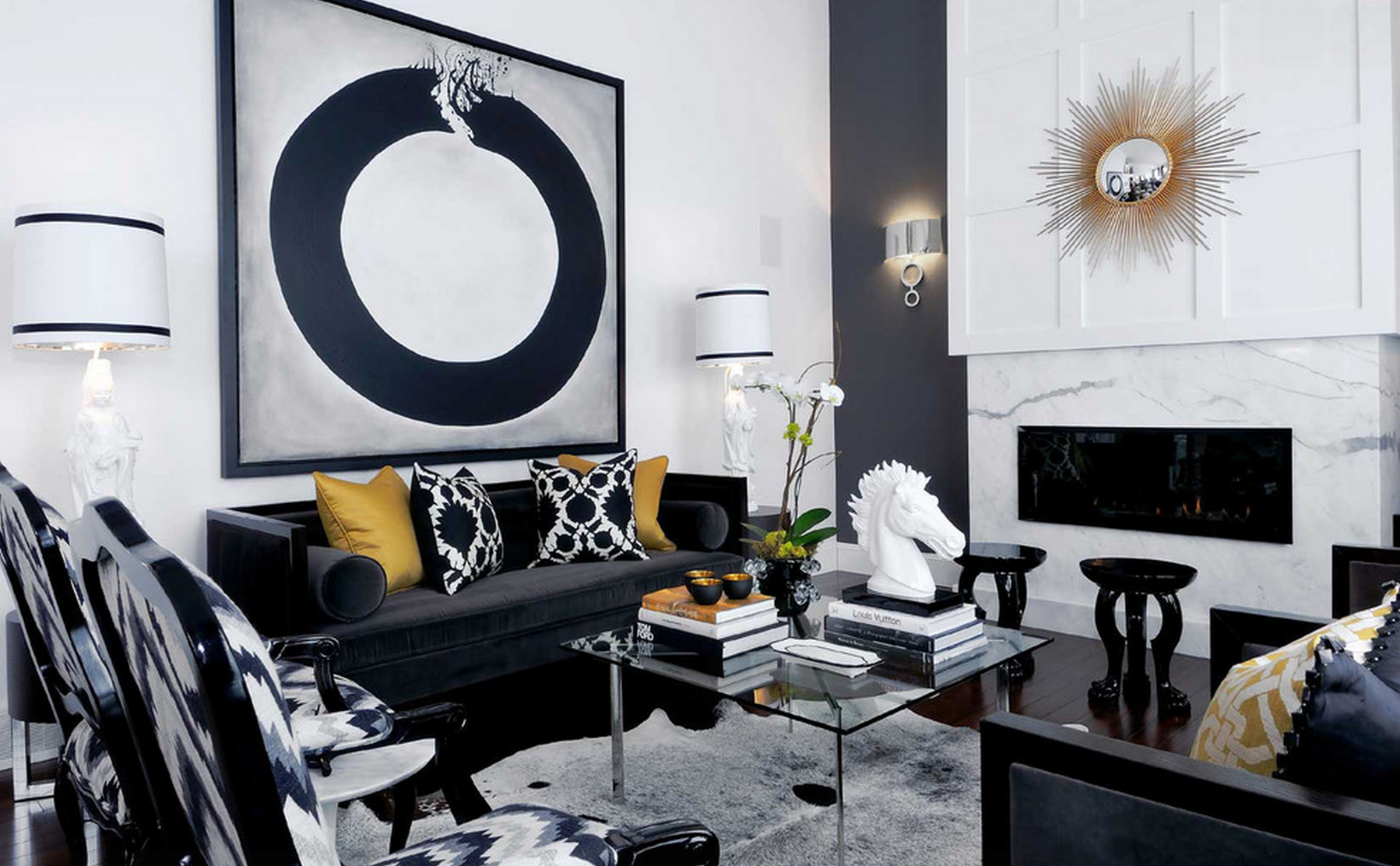 Best of Black and White Modern Living Rooms black and white modern living rooms Best of: Black and White Modern Living Rooms Best of Black and White Modern Living Rooms