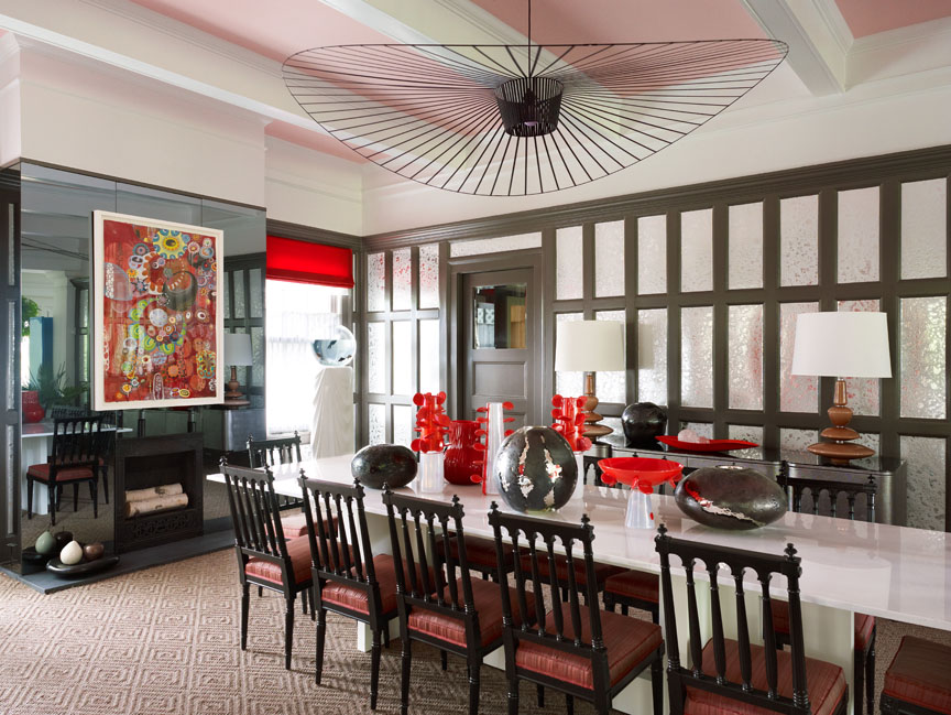 Deal NJ Showhouse May 2011 Designer: Jamie Drake contemporary dining room ideas Contemporary Dining Room Ideas Contemporary Dining Room Ideas 11