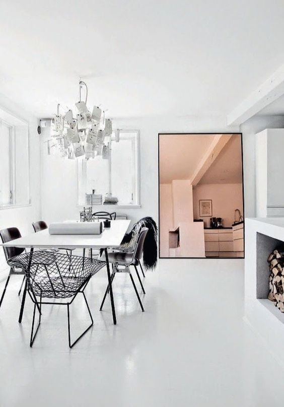 Fresh White Dining Rooms Design_02
