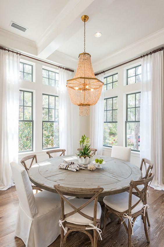 Fresh White Dining Rooms Design_05