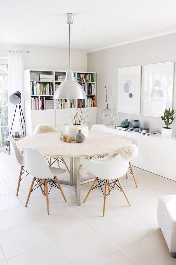 Fresh White Dining Rooms Design