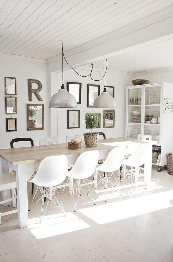 Fresh White Dining Rooms Design_07