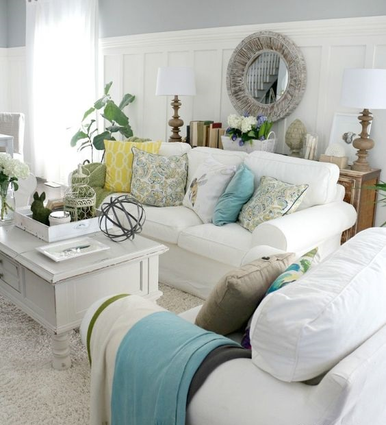 Spring Design Ideas: Spring Decorating Ideas For Your Living Room Design
