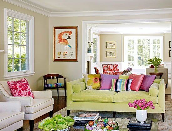 Spring decorating ideas for your living room design for How to make your bedroom look cool without spending money
