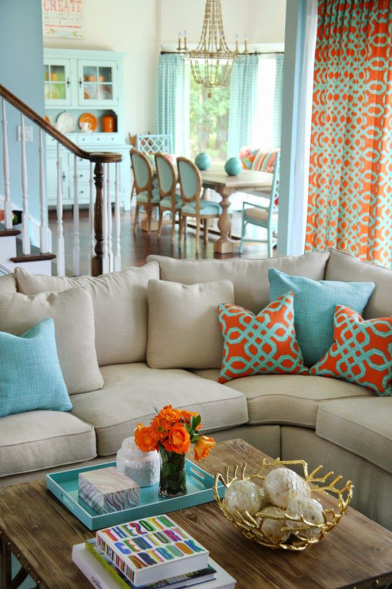 Spring decorating ideas for your living room design for Living and dining room decorating ideas