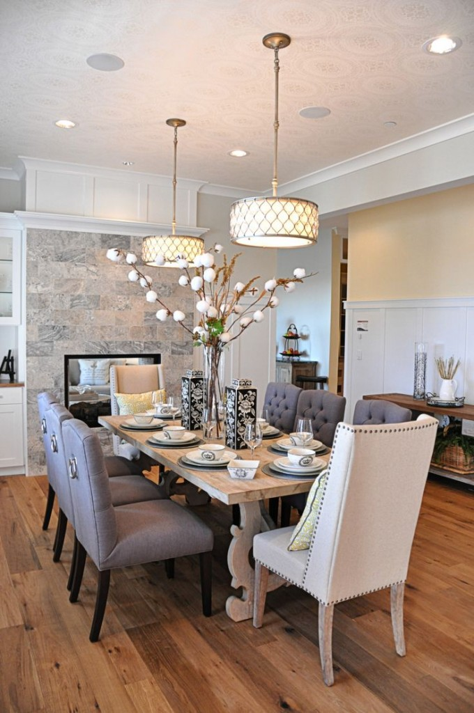 how to make dining room look bigger