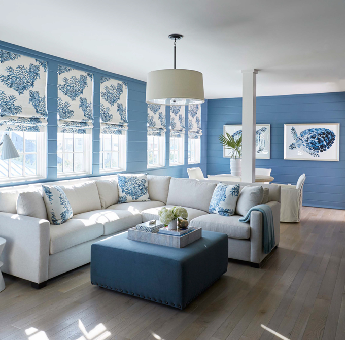 10 ideas for how to decorate your living room with for Turquoise and white living room ideas