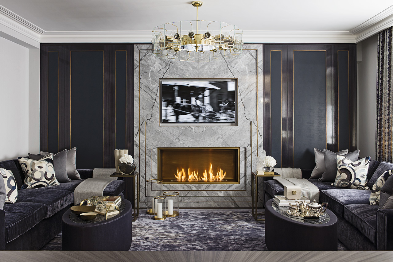 10 luxury living room decoration by katharine pooley for Home interior design london