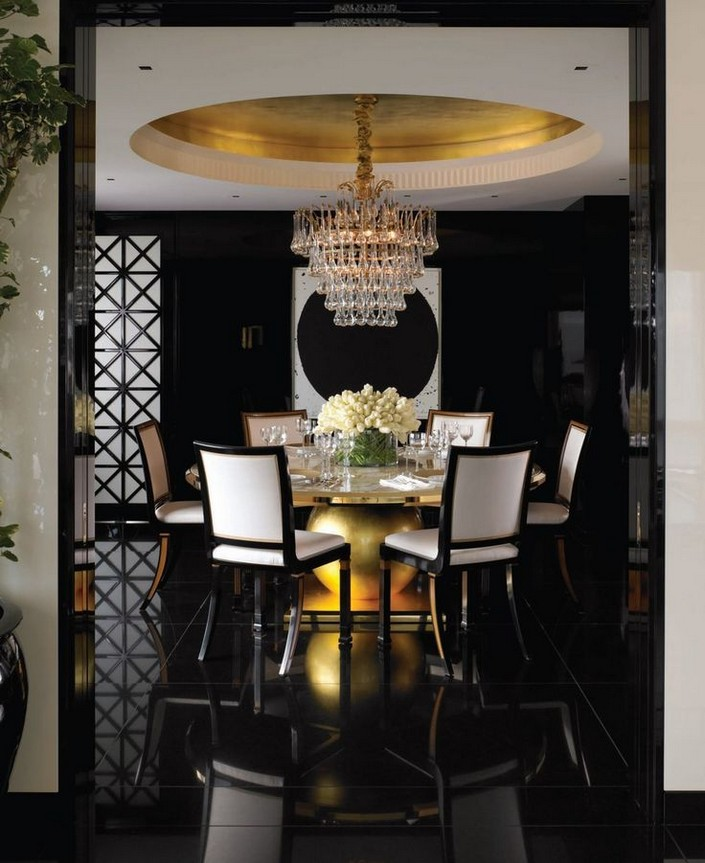 Amazing kelly wearstler dining room design for Dining room decor inspiration