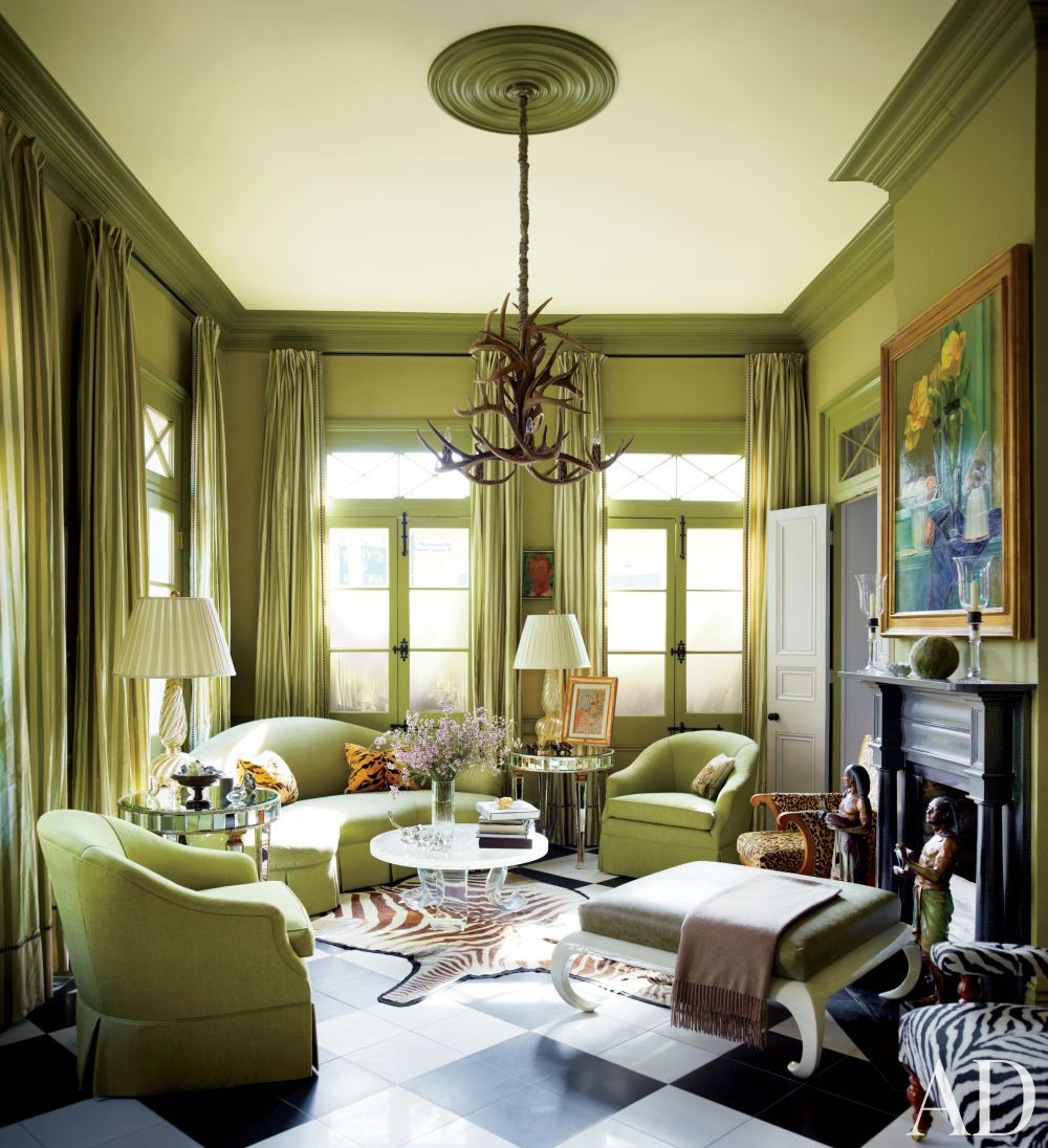 Green Traditional Living Room Design Best Traditional Living