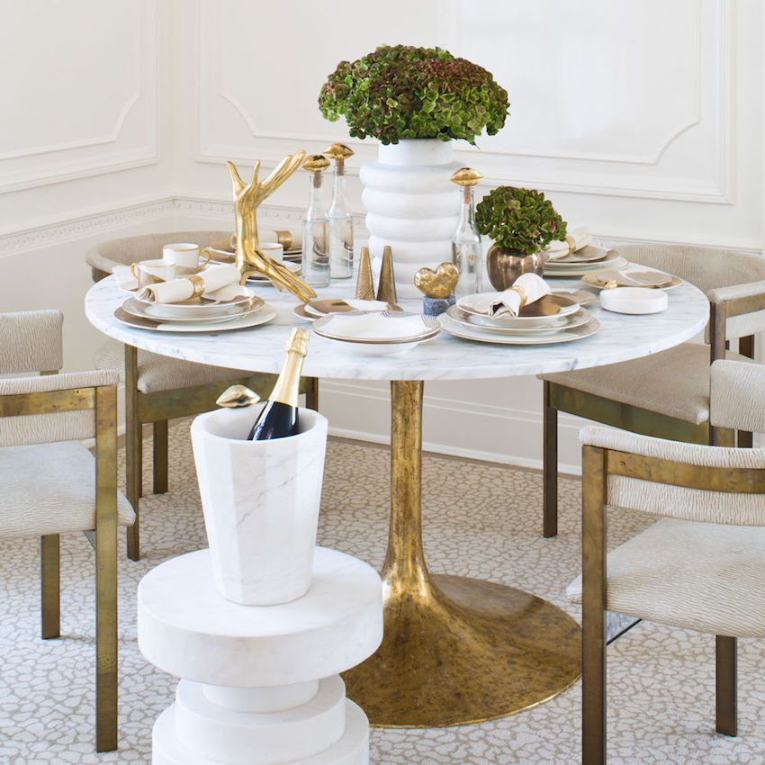 Top 25 of amazing modern dining table decorating ideas to for Contemporary tabletop decor