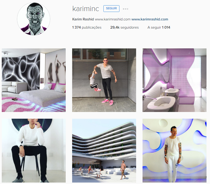 Karim Rashid Instagram Account Best Interior Designers 10 To Follow