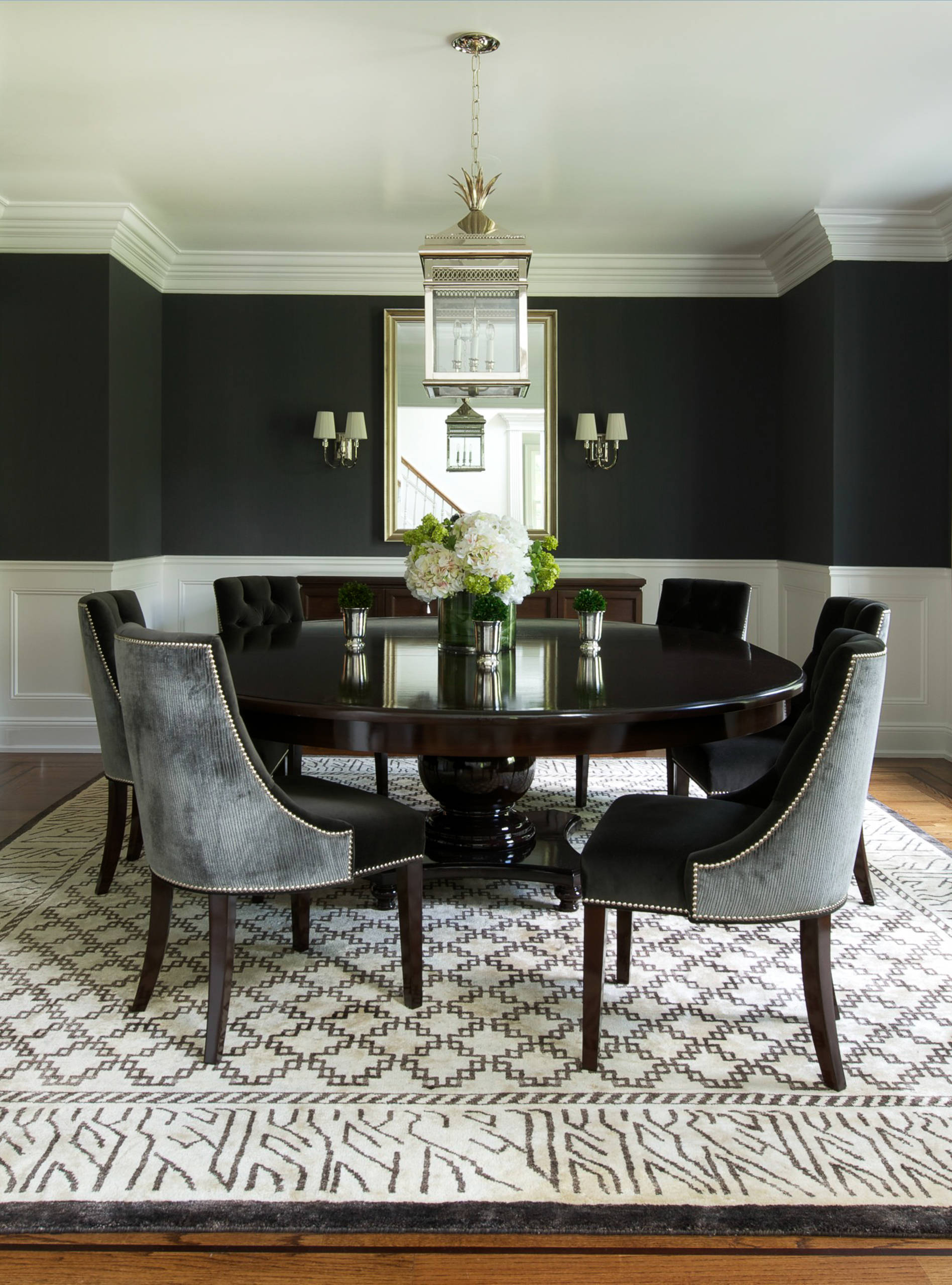 round dining table to decorate your home. Black Bedroom Furniture Sets. Home Design Ideas