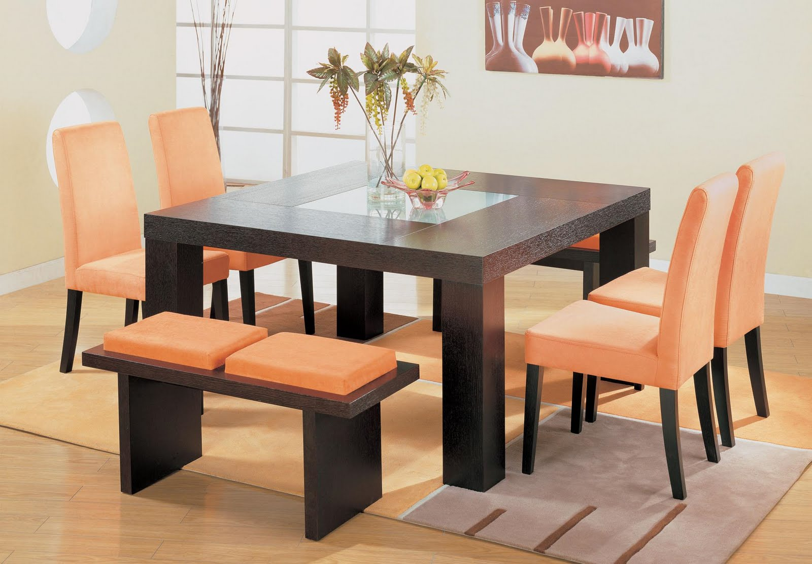 Dining Room Decor Table Design Square For Your Home
