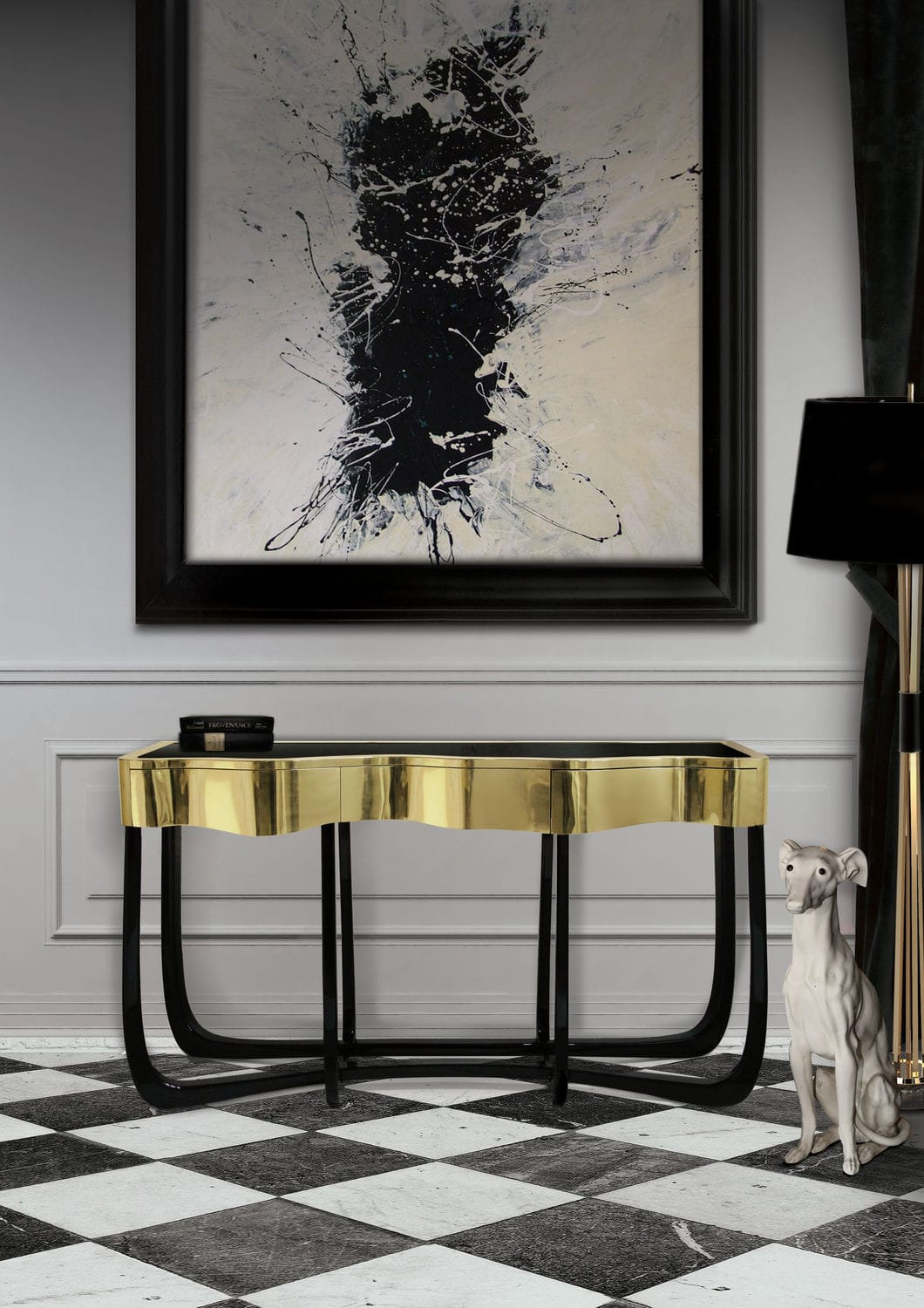 10 Amazing Modern Console Tables for Your Living Room Design modern console tables 10 Amazing Modern Console Tables for Your Living Room Design Console Table for Your Living Room Design8
