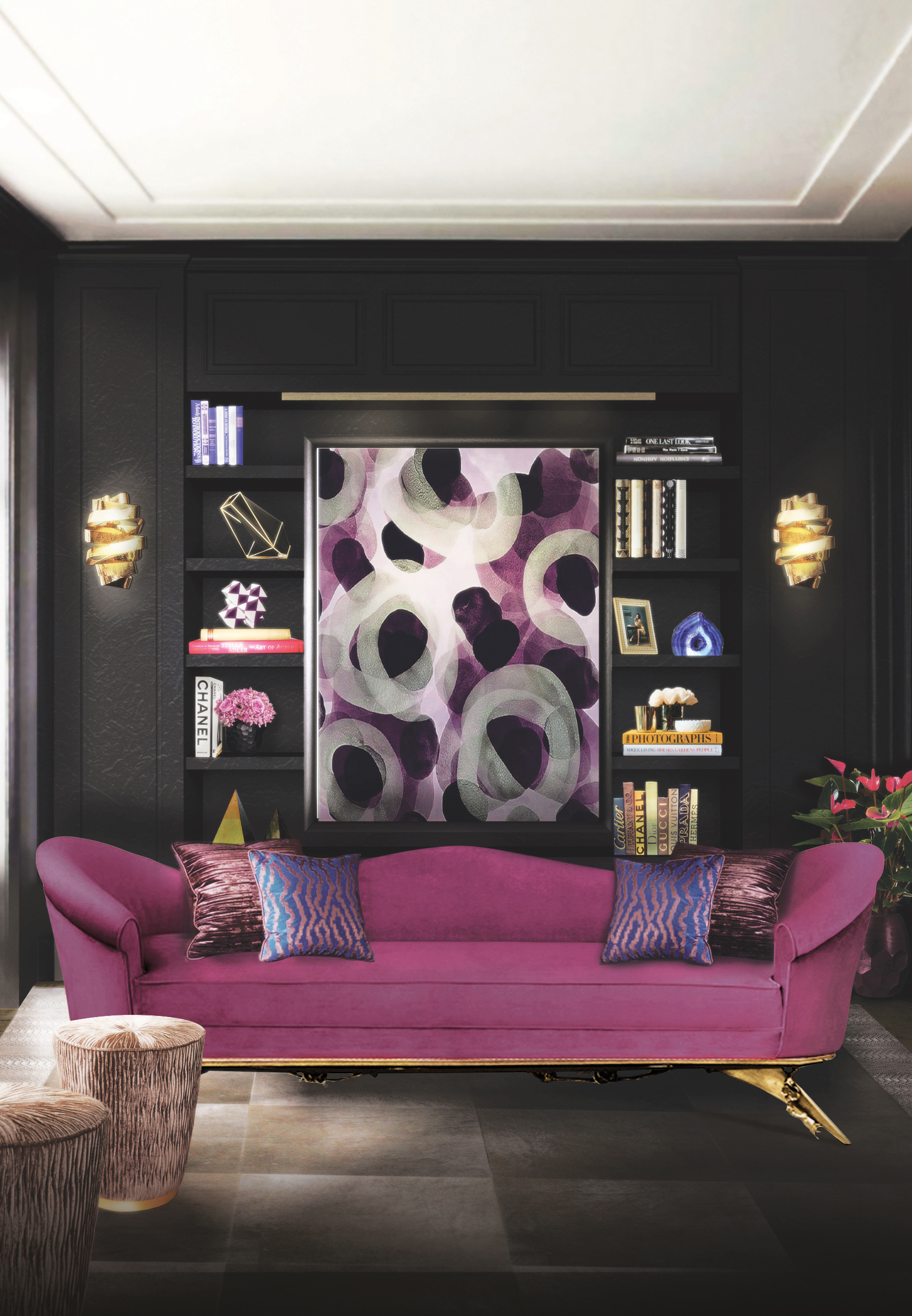 Purple Living Room Furniture 10 Interior Design Trends For Your Living Room In 2017