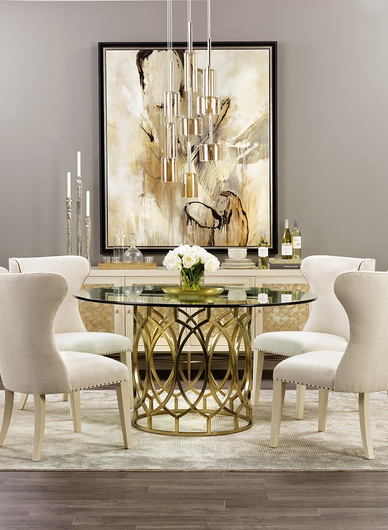 25 trendiest modern dining tables for your dining space for Formal dining room table decor