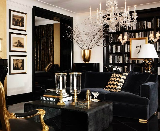 8 Gorgeous Ideas on How to Decorate your Living Room with Dark Colors