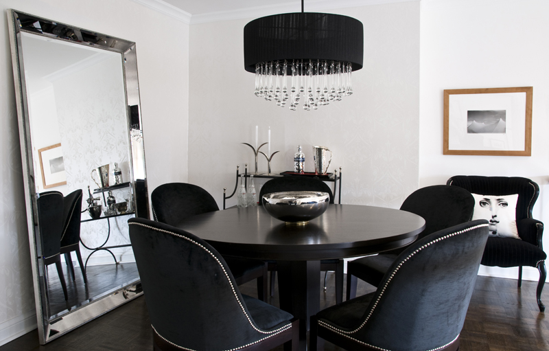 Top 10 black dining rooms that will delight you for Best dining rooms 2016