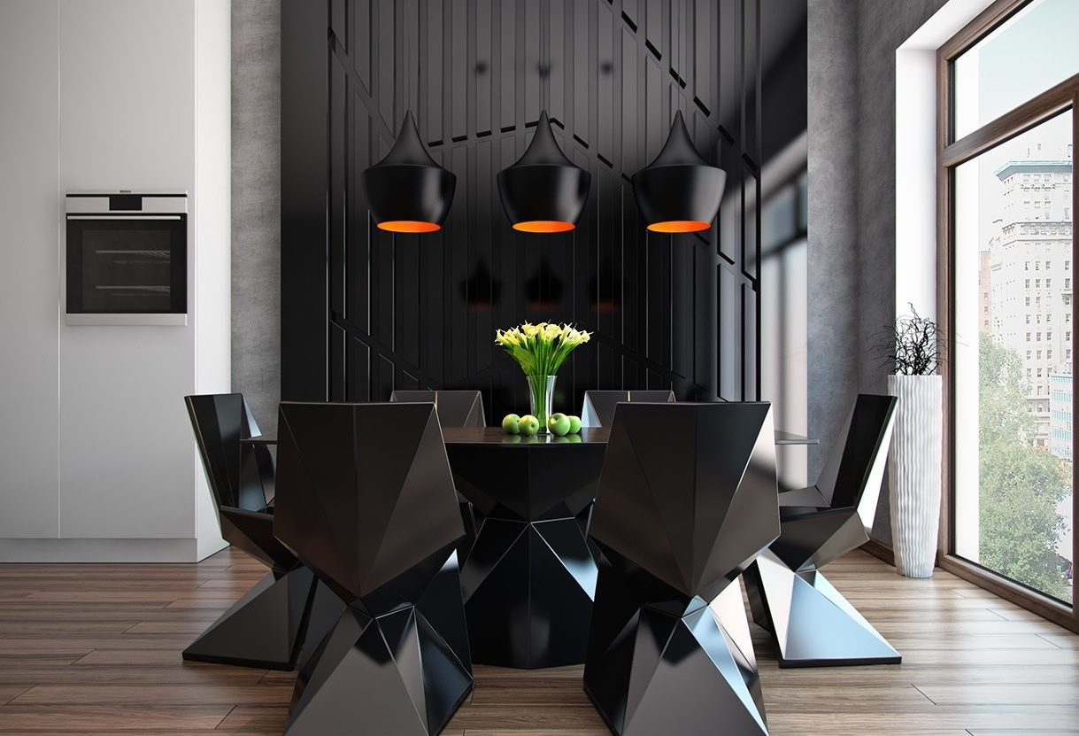 black dining rooms Top 10 Black Dining Rooms that will Delight You Top 10 Black Dining Rooms that will Delight You3 e1472635487621