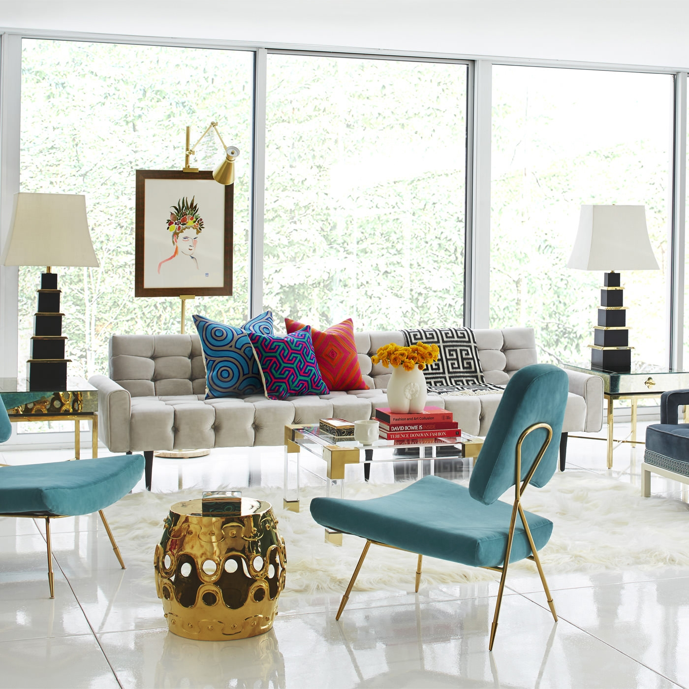 Awesome 10 Cheerful Winter Living Rooms By Jonathan Adler Winter Living Rooms 10  Cheerful Winter Living Rooms