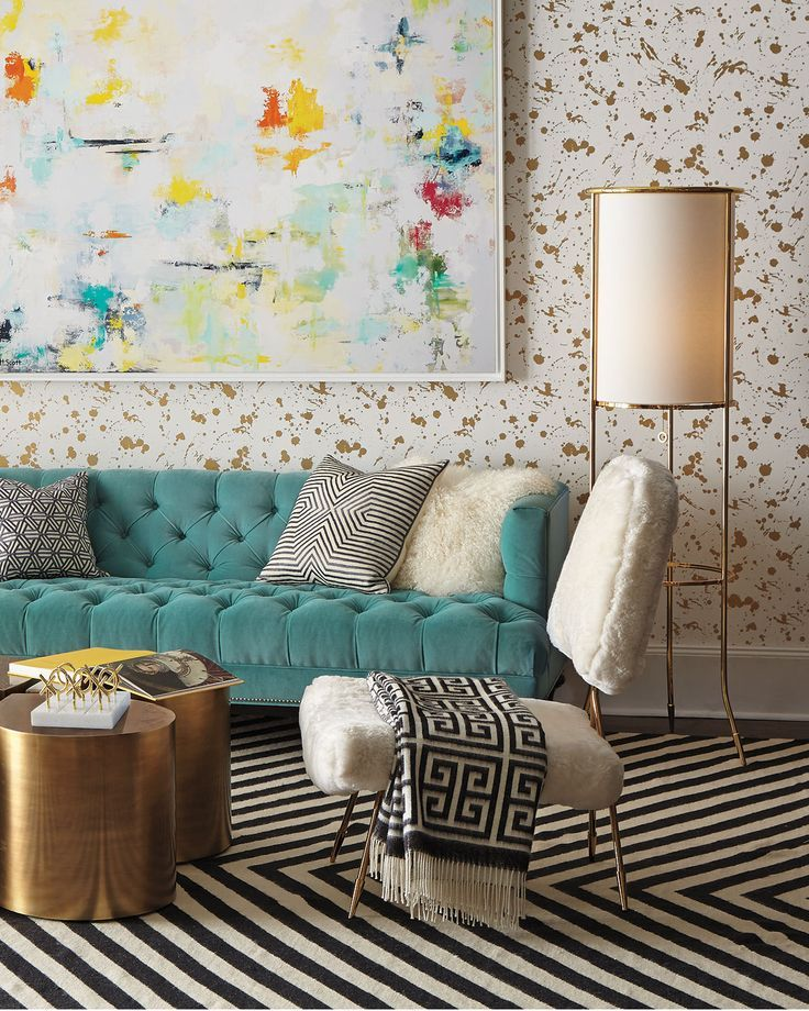 10 Cheerful Winter Living Rooms By Jonathan Adler Winter Living Rooms 10  Cheerful Winter Living Rooms