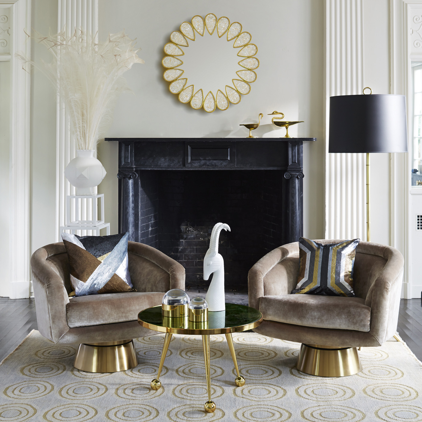 Jonathan Adler  winter living rooms 10 Cheerful Winter Living Rooms by Jonathan Adler 10 Cheerful Winter Living Rooms by Jonathan Adler4