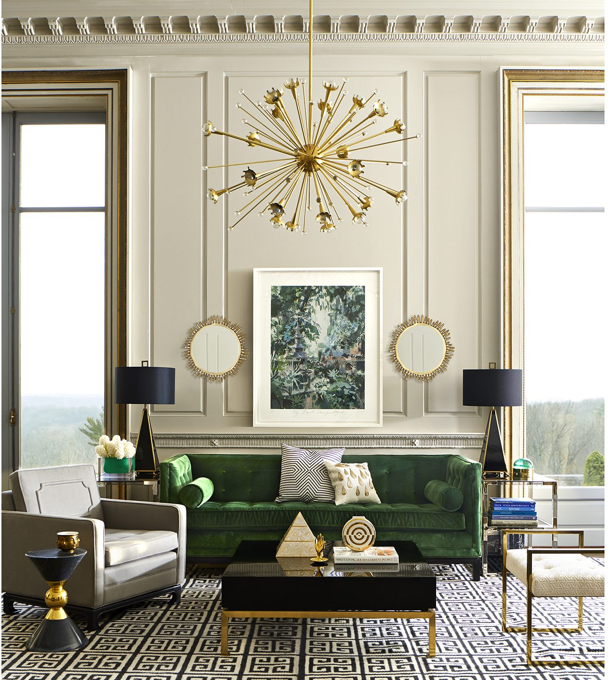 Attractive 10 Cheerful Winter Living Rooms By Jonathan Adler Winter Living Rooms 10  Cheerful Winter Living Rooms