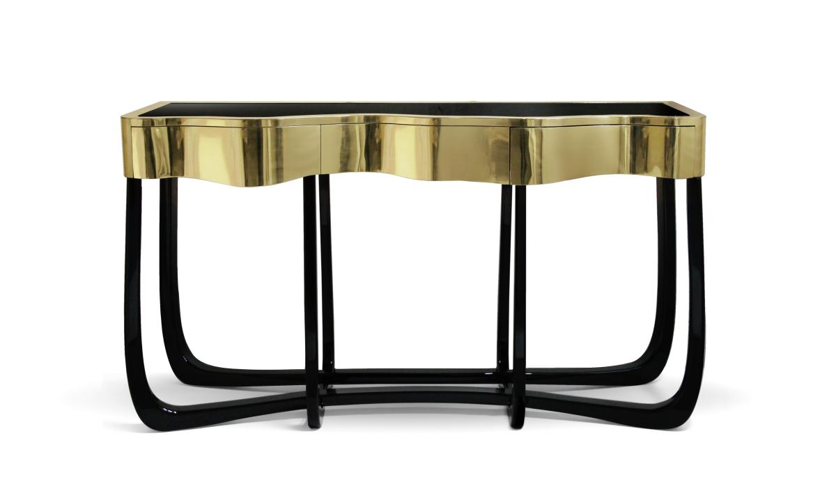 sinuous console black and gold furniture The Best Black and Gold Furniture for your Home Décor The Best Black and Gold Furniture for your Living Room D  cor3