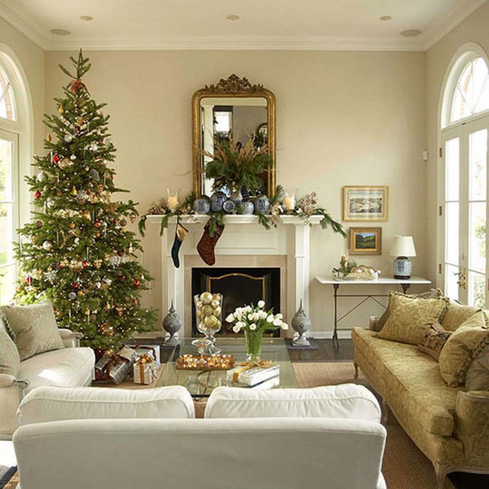 Get inspired with these amazing living rooms decor ideas - Christmas living room decor ...