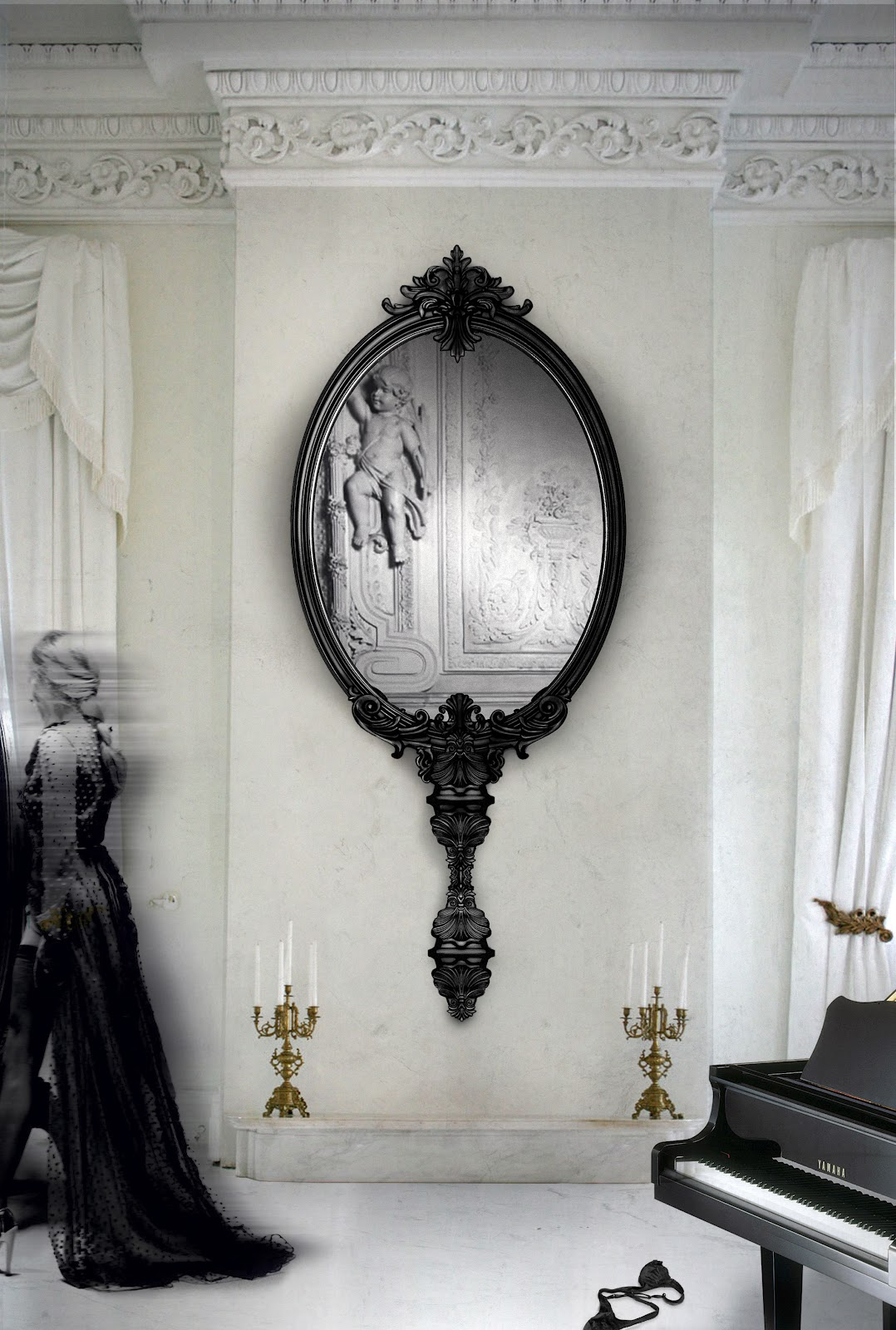 The Most Beautiful Wall Mirror Designs for Your Living Room  wall mirror designs The Most Beautiful Wall Mirror Designs for Your Living Room The Most Beautiful Wall Mirror Designs for Your Living Room5