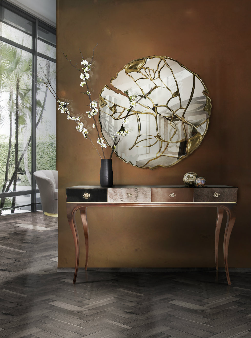 The Most Beautiful Wall Mirror Designs for Your Living Room  wall mirror designs The Most Beautiful Wall Mirror Designs for Your Living Room The Most Beautiful Wall Mirror Designs for Your Living Room6