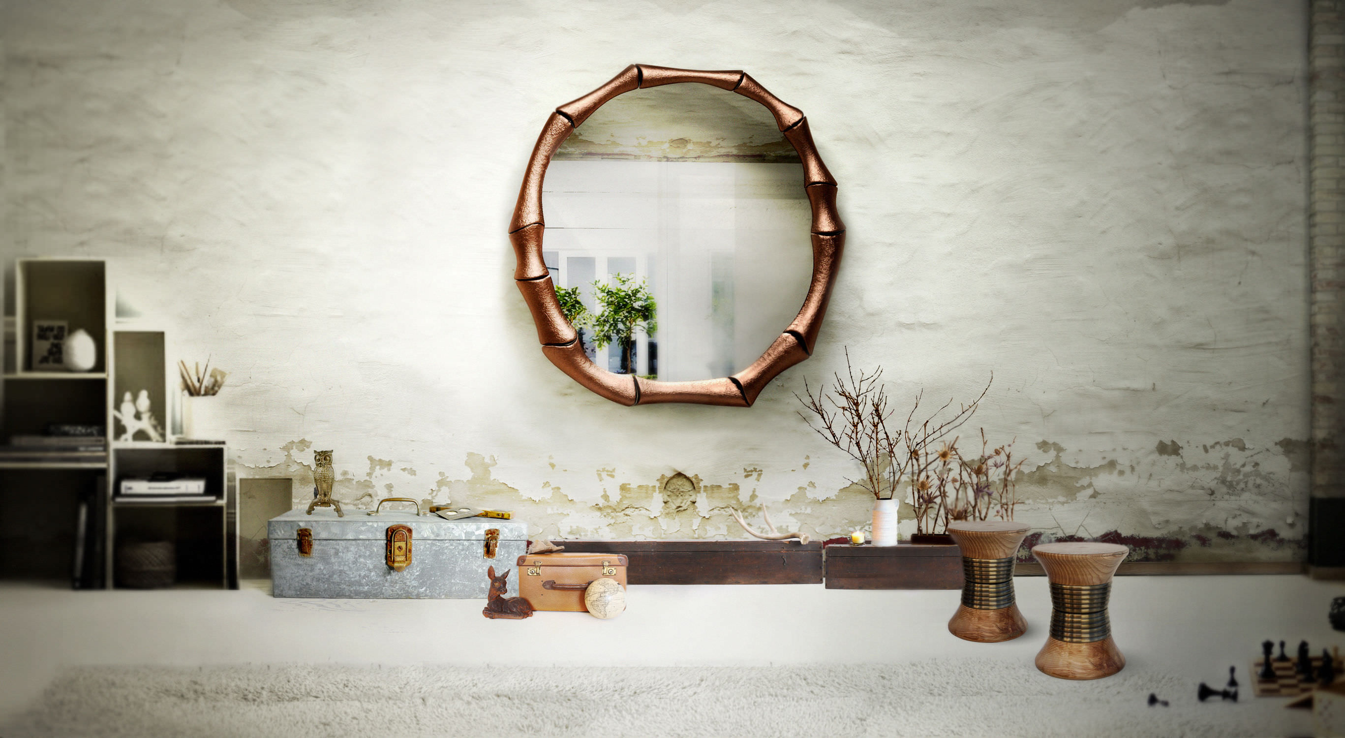 The most beautiful wall mirror designs for your living room for Wall mirror design
