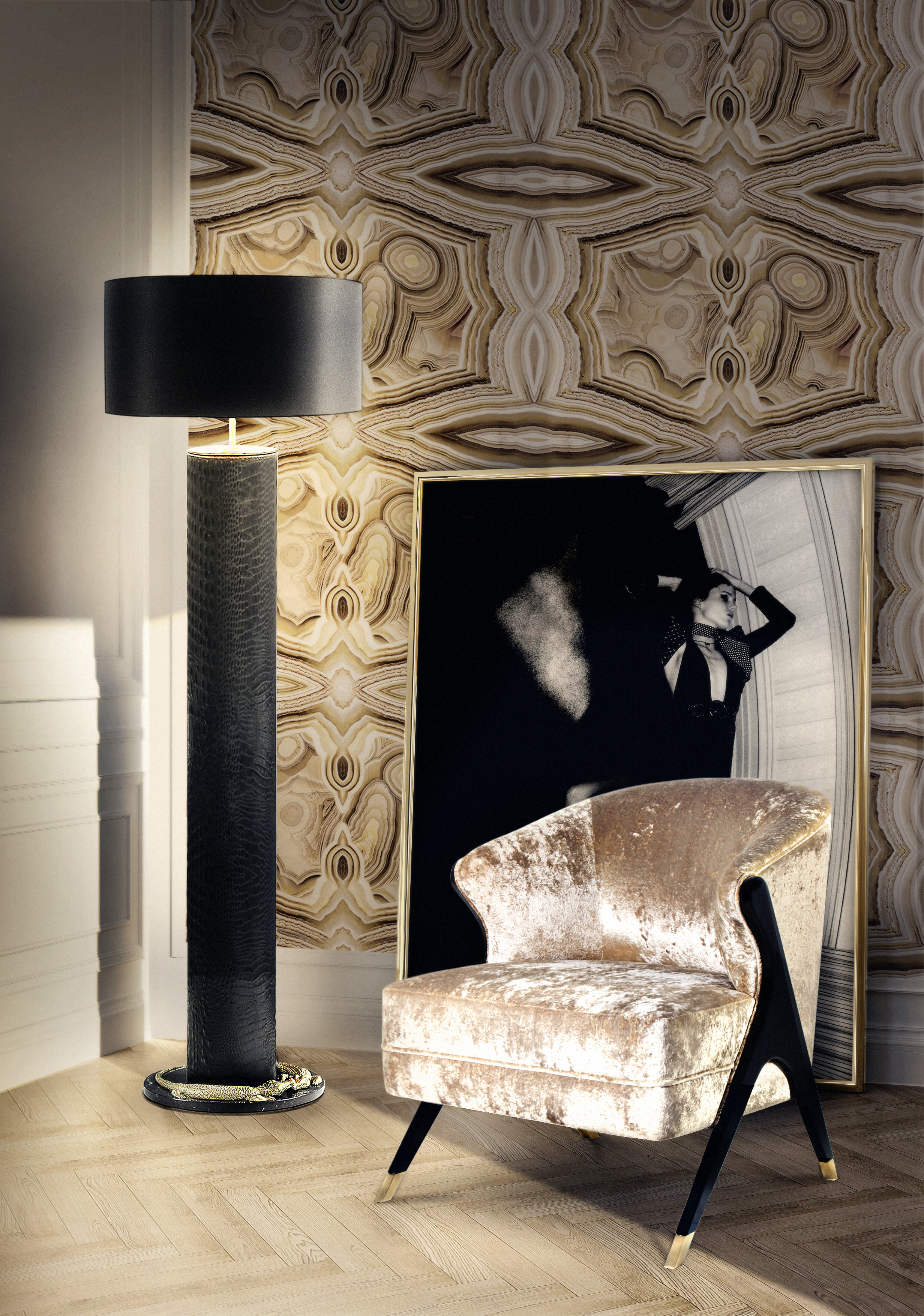 Rock on wallpaper by koket wallpaper designs 10 Wallpaper Designs That will Fit Perfectly in your Home 10 Wallpaper Designs That will Fit Perfectly in your Home8
