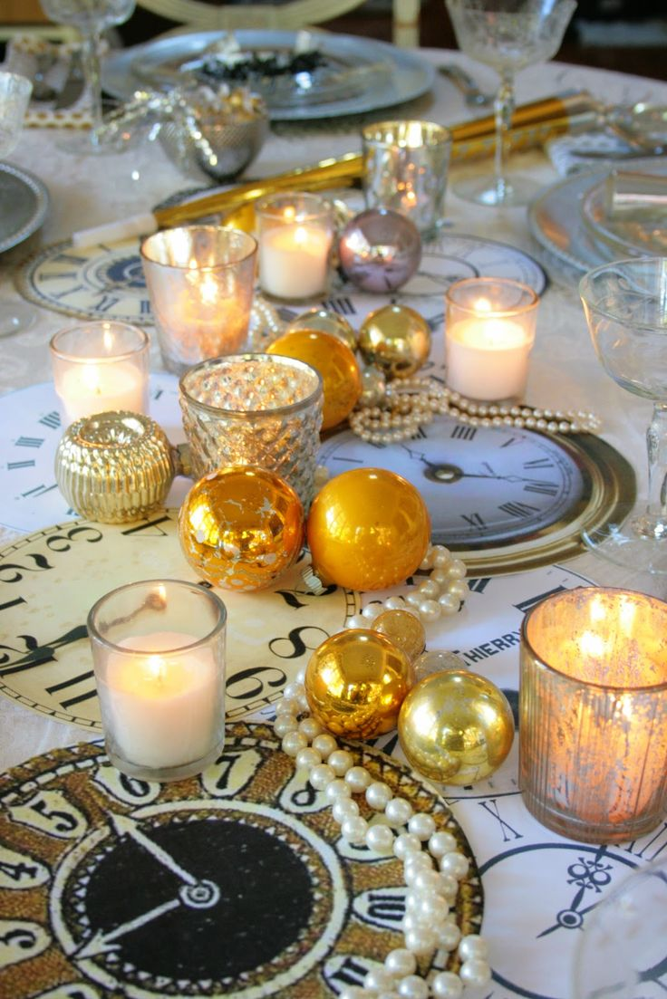 dining table decor  New Year's Eve Get a Luxury Table Setting for New Year's Eve Get a Luxury Table Setting for New Years Eve