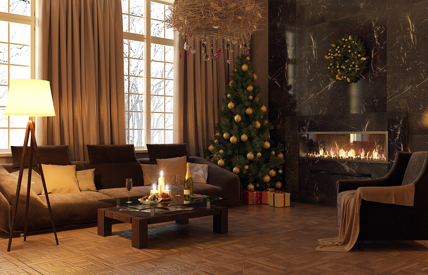 gorgeous living rooms to get inspired for your christmas decor