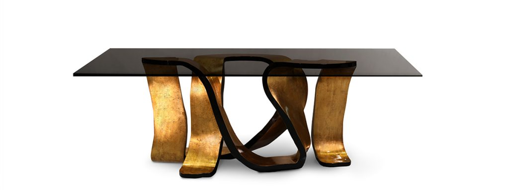 Isaloni 2017: KOKET Redefines Confidence in Milan - Ribbon dining table by koket