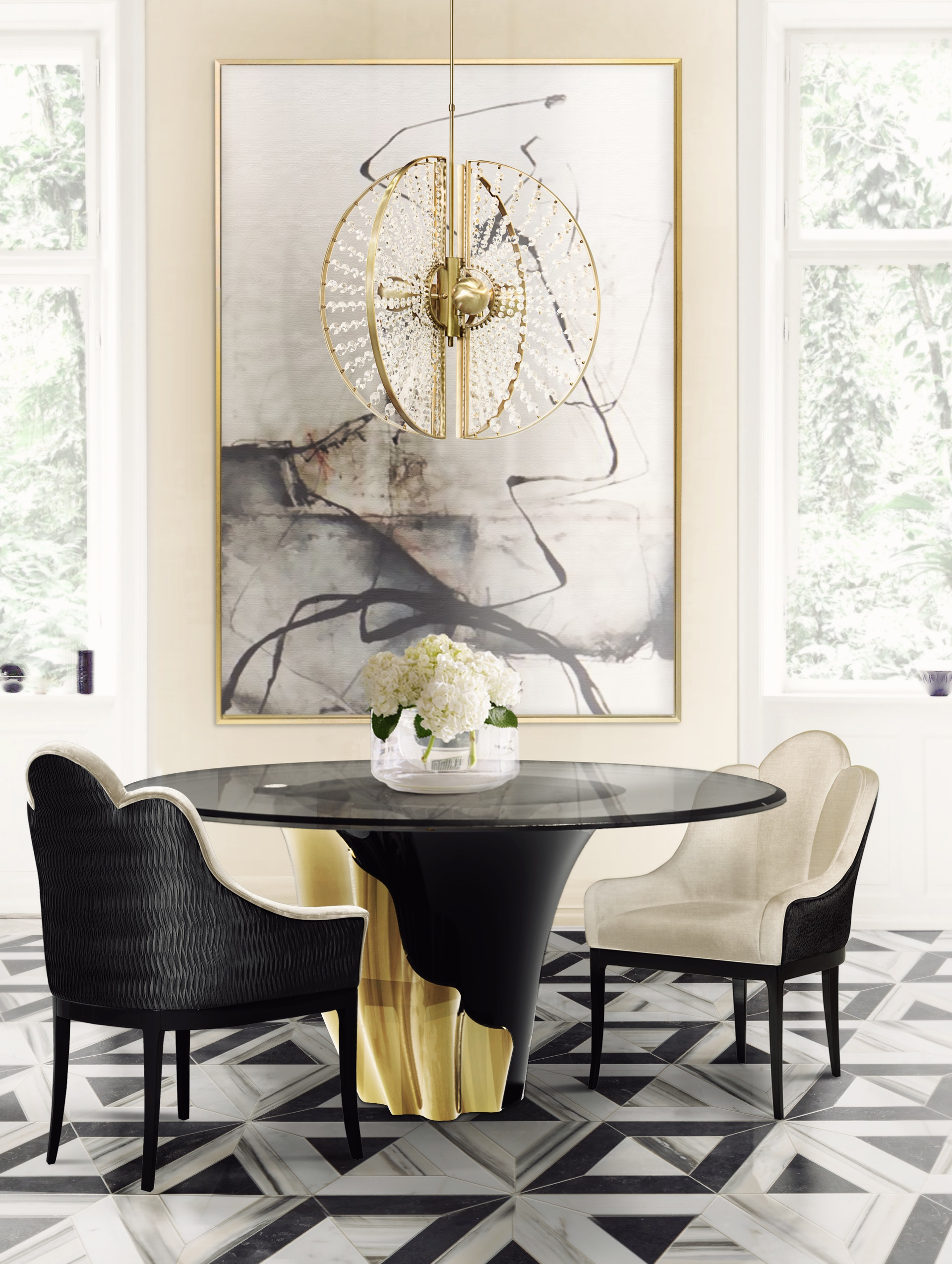 8 Trendy Dining Room Ideas for this Summer  trendy dining room ideas 8 Trendy Dining Room Ideas for this Summer anastasia dining chair koket projects