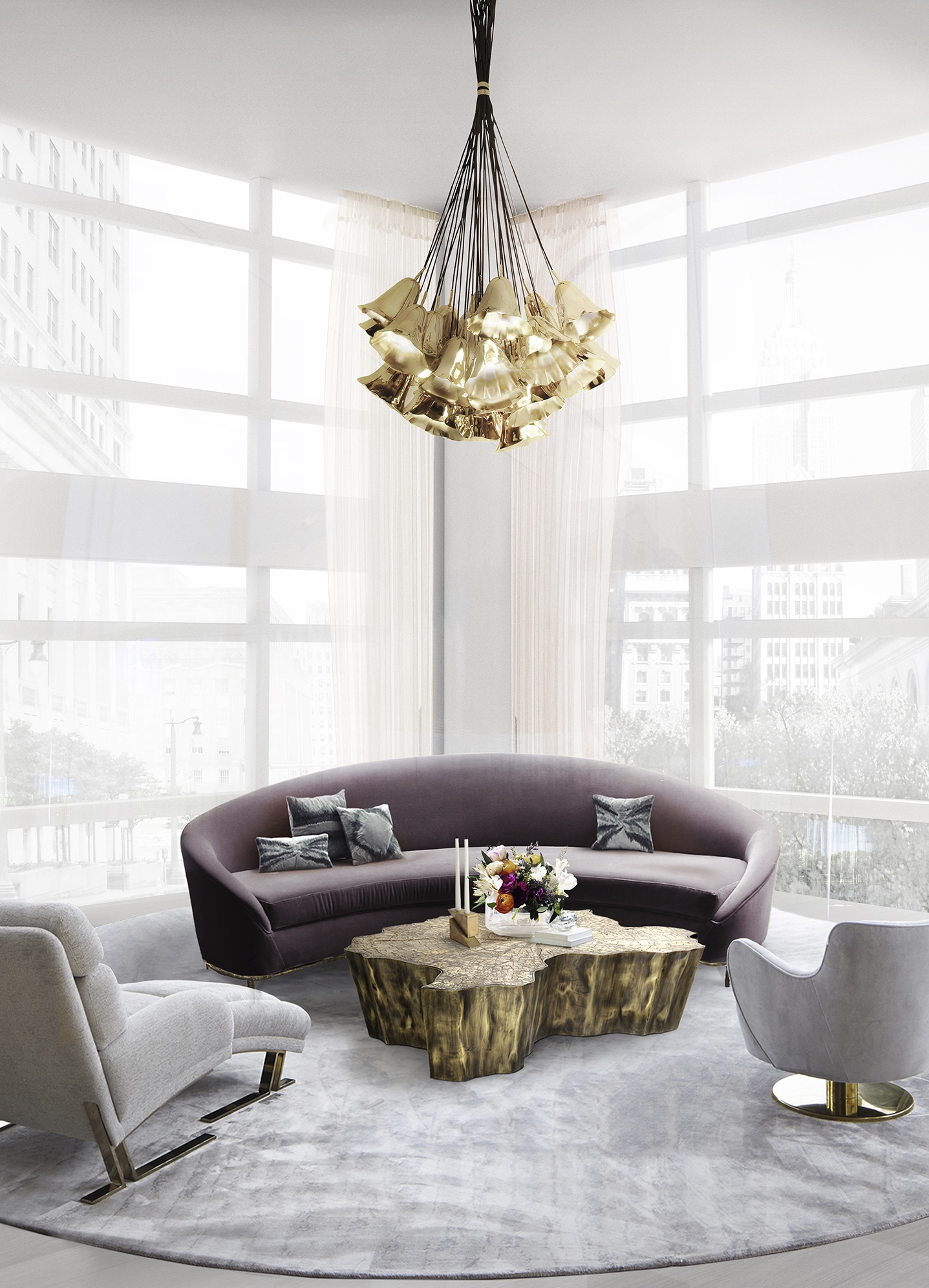 Summer Trends for your Living Room that you Will Love Summer Trends Summer Trends for your Living Room that you Will Love vamp sofa gia chandelier koket projects