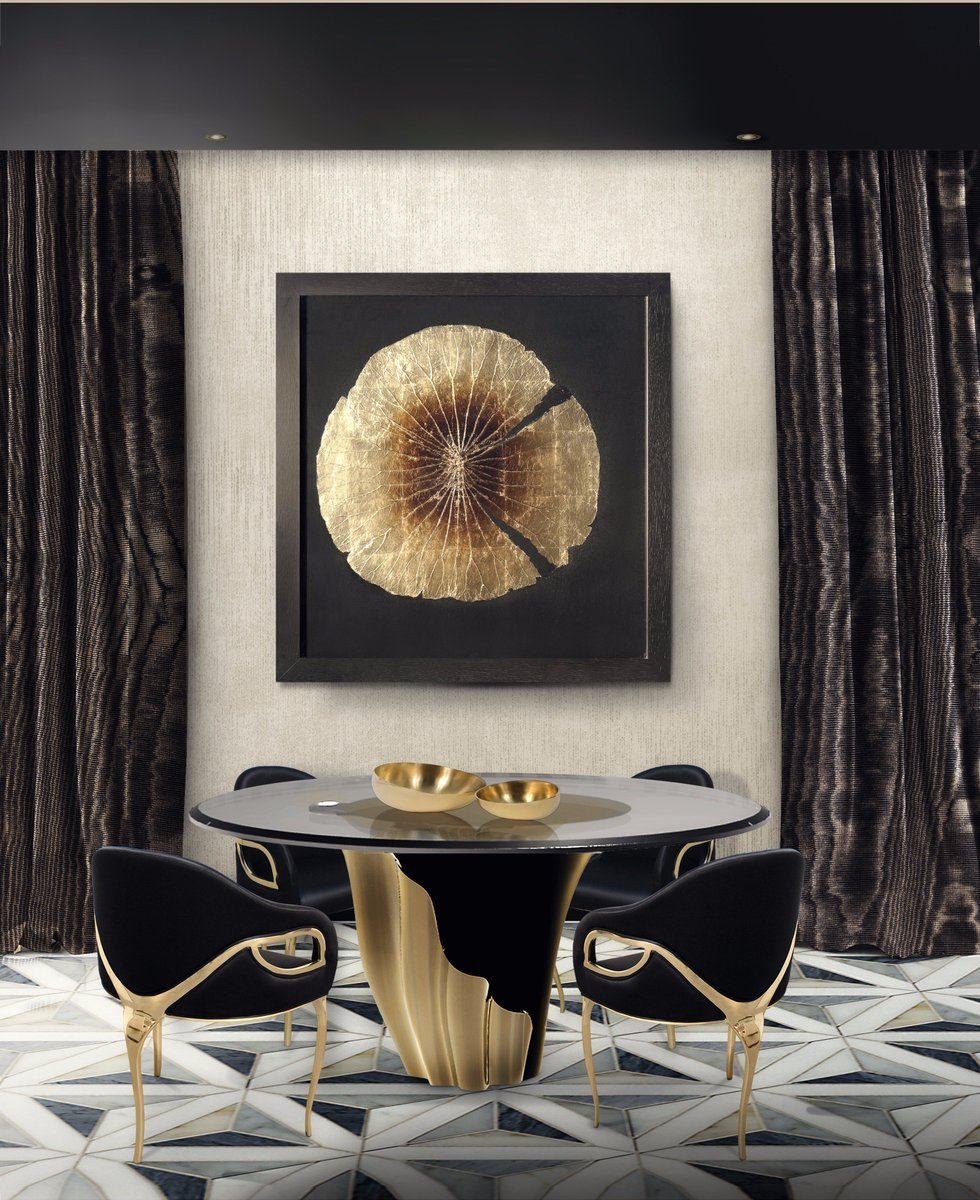 8 dining room tables perfect for a luxury dining set for Exclusive interior designs