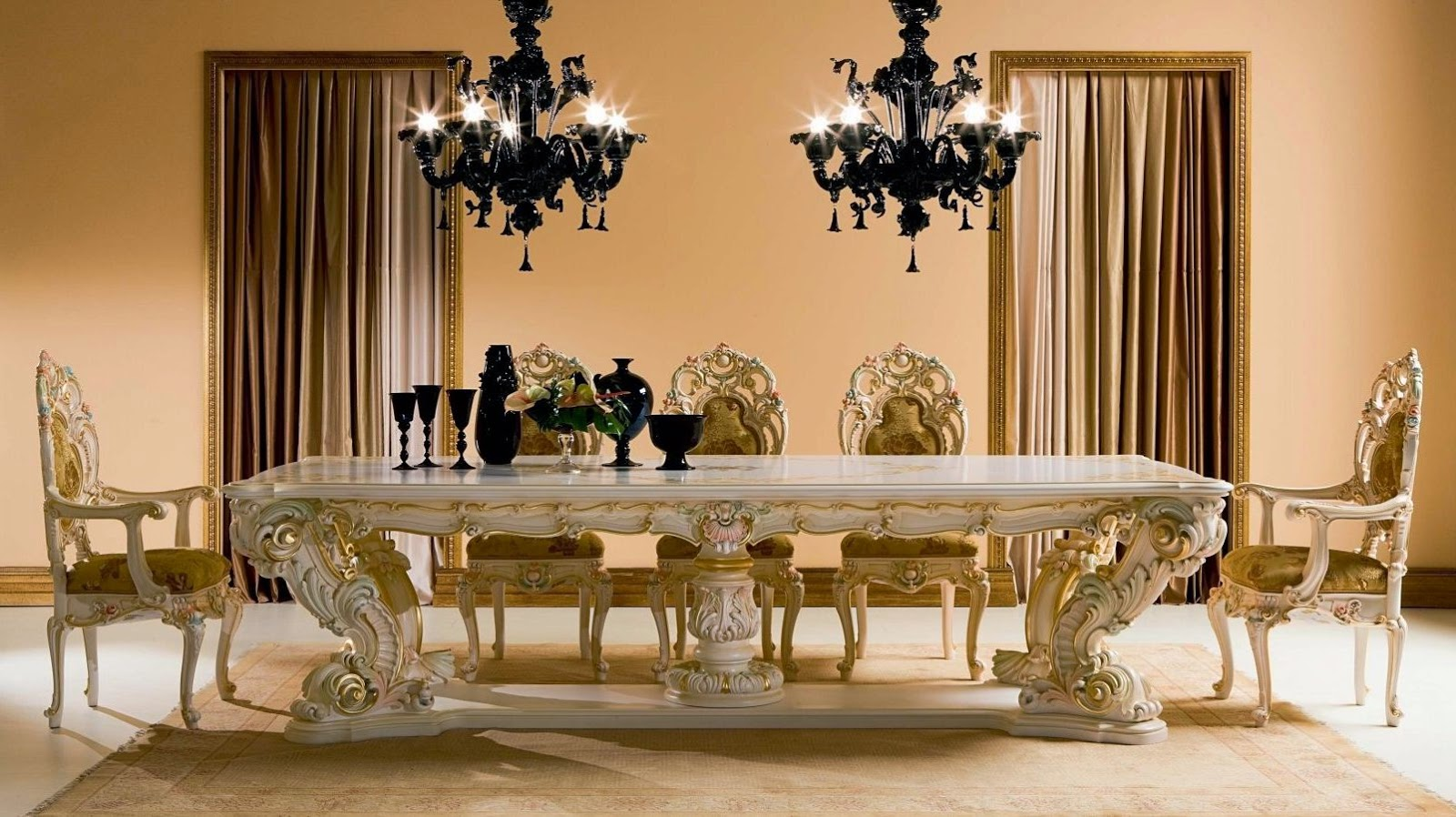 8 dining room tables perfect for a luxury dining set for Luxury dining room design