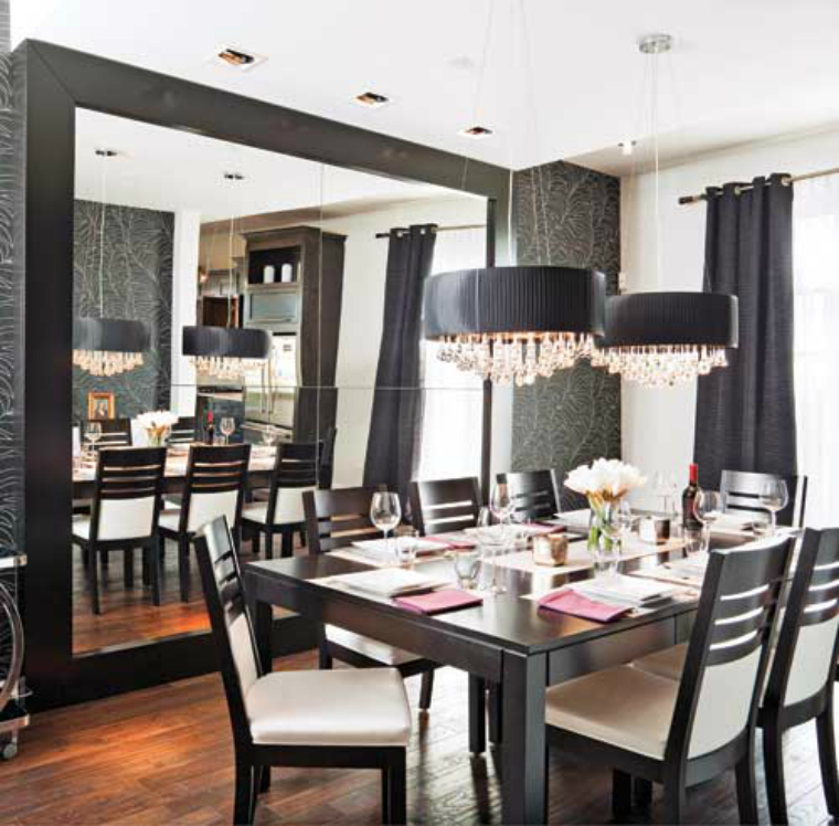 6 interior design tips to make your dining room look bigger. Black Bedroom Furniture Sets. Home Design Ideas