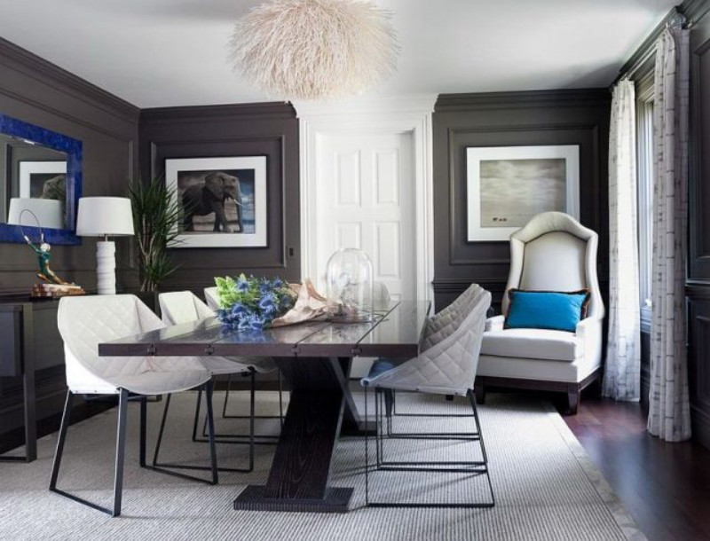 Modern Dining Room Design: 2019 Color Trends dining room design Modern Dining Room Design: 2019 Color Trends 2019 Dining Room Design Color Trends 6
