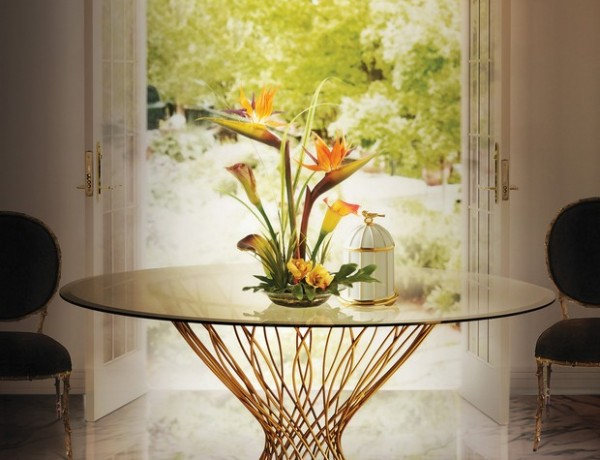 best dining room tables 10 of the best dining room tables for your home Room Decor Ideas Room Ideas 2016 Trends for Home Interiors Precious Materials Gold Luxury Furniture Luxury Interior Design Allure Dining Table Vivre Chandelier KOKET 600x460