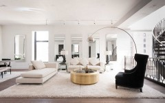 living room decor with side tables How To Improve Your Living Room Decor With Side Tables Shiny coffee table stands out thanks to the neutral backdrop 240x150