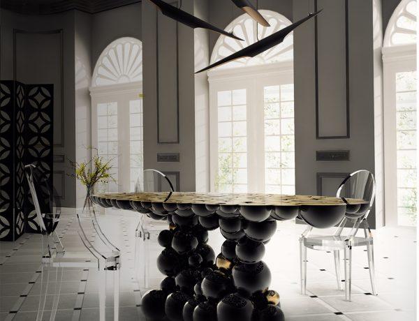 black dining rooms Top 10 Black Dining Rooms that will Delight You Top 10 Black Dining Rooms that will Delight You9 e1472635372743 600x460
